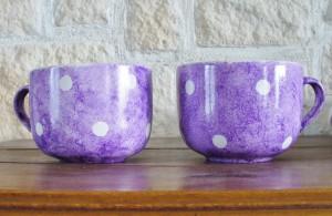 tasse peinture porcelaine
